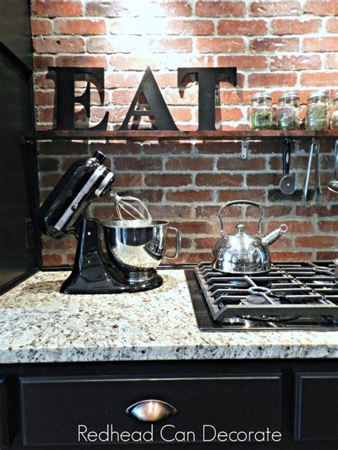 Ideas For Above Kitchen Cabinets Diy Brick Backsplash Redhead Can Decorate