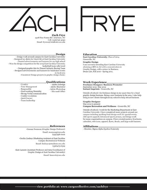 About Me Resume by About Me Resume Zach Frye Designs