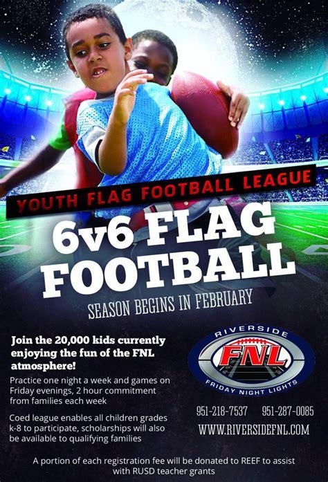 friday lights flag football friday lights youth flag football riverside