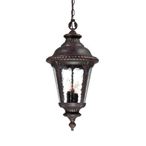 Light Fixture Collections Acclaim Lighting Surrey Collection Hanging Outdoor 3 Light Black Coral Light Fixture 7226bc