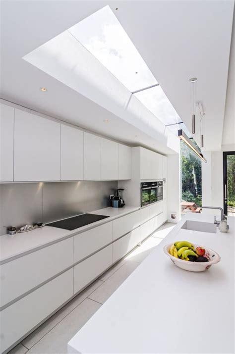 modern handleless kitchens white minimal modern handleless kitchen pronorm y line