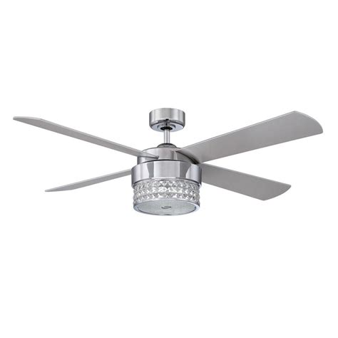 chrome ceiling fan with remote control designers choice collection celestra 52 in indoor chrome