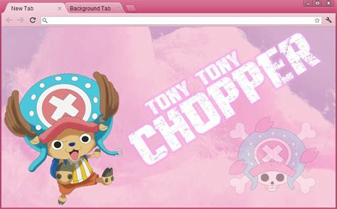 themes google chrome one piece one piece google chrome theme tony tony chopper by