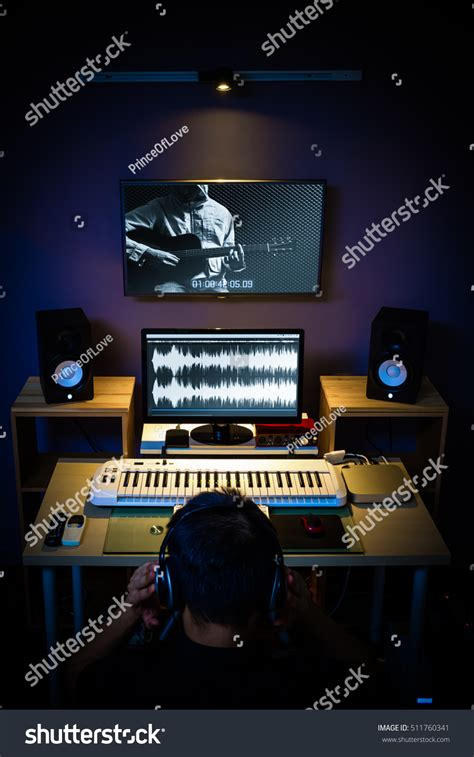 Studio Technician by Sound Engineer Technician Editor Producer Working Stock Photo 511760341