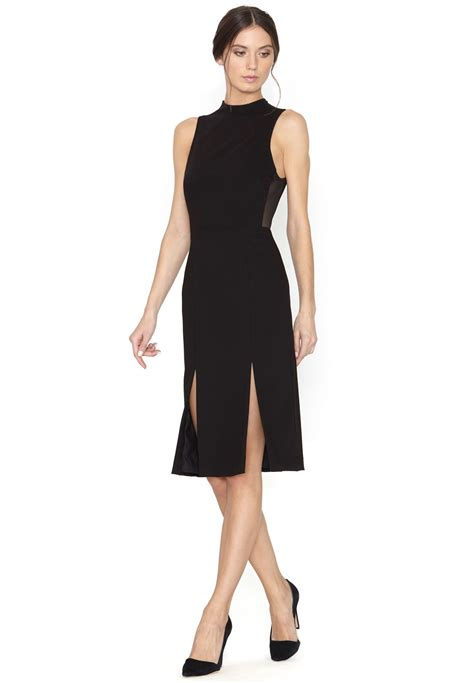 Laurent Slit Dress Black evelin fitted slit dress in black lyst