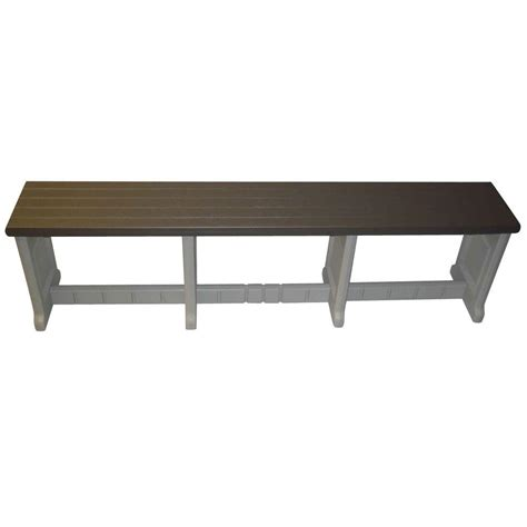 bench depot leisure accents 74 in portabello resin patio bench lapb74 p the home depot