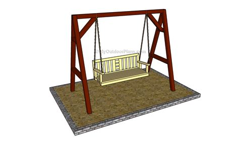 bench swing frame plans outdoor bench seat plans free online woodworking plans