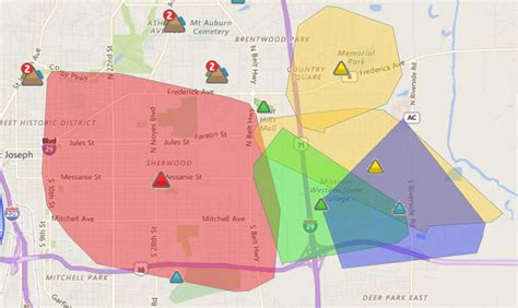 kcpl outage map outage leaves around 17 000 without power local news