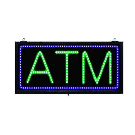 Sign Led Atm large green and blue led atm sign