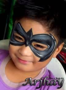 robin mask cute smile   face painting mask face