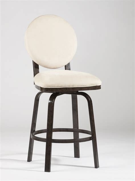 Upholstered Counter Stools With Backs Chintaly Imports Memory Return Swivel Upholstered