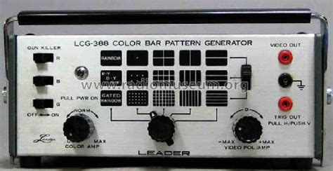 pattern generator upload image color bar pattern generator lcg 388 equipment leader electro