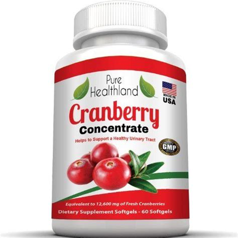 Suplemen Cranberry Cranberry Concentrate Supplement Softgels For Urinary