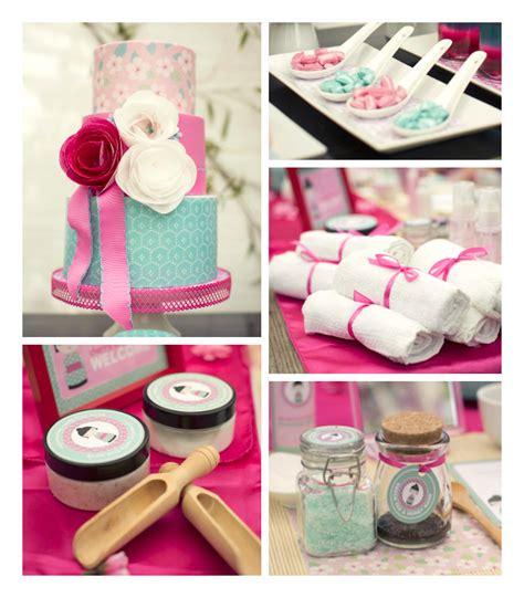 spa themed decorations kara s ideas cherry blossom spa themed birthday
