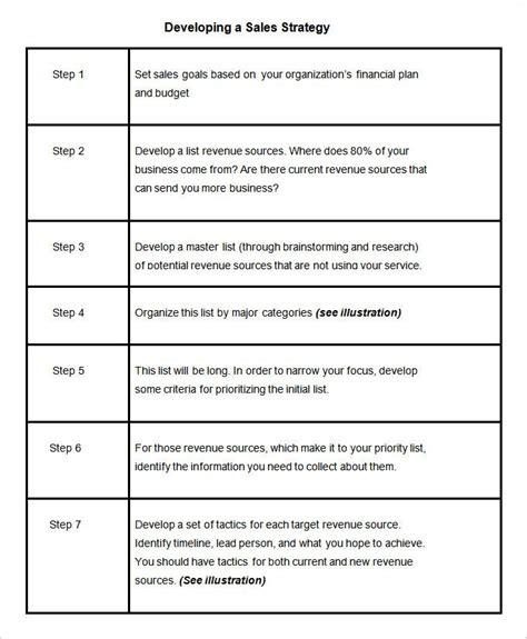 Sales Strategy Template 10 Free Word Pdf Documents Download Free Premium Templates Sales Engagement Plan Template