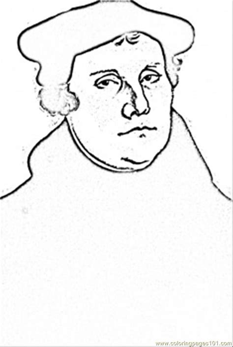 Luther Coloring Page free luther coloring pages