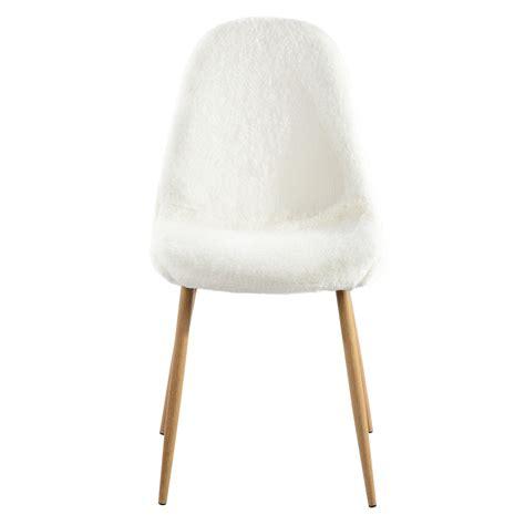 chaise fourrure chaise pilou blanche lot de 2 d 233 couvrez nos chaises