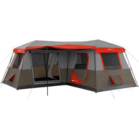ozark trail 10 person 3 room instant cabin tent large cing tent 12 person 3 rooms instant 16 x16 family cabin river ebay