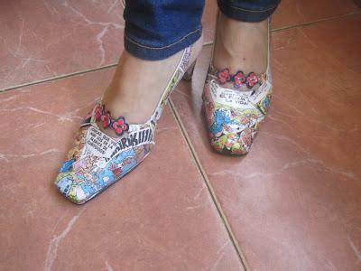como decorar zapatos locos para niños renovar zapatos con c 243 mics paperblog