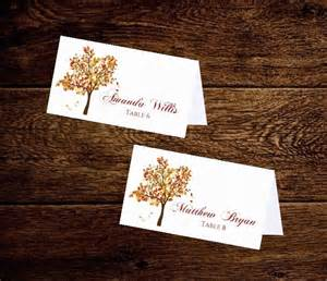 autumn wedding place cards cards by pixelromance4ever
