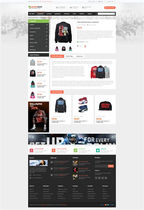 Jekyll Multiple Layout | sportstore multiple layouts opencart theme by pavothemes