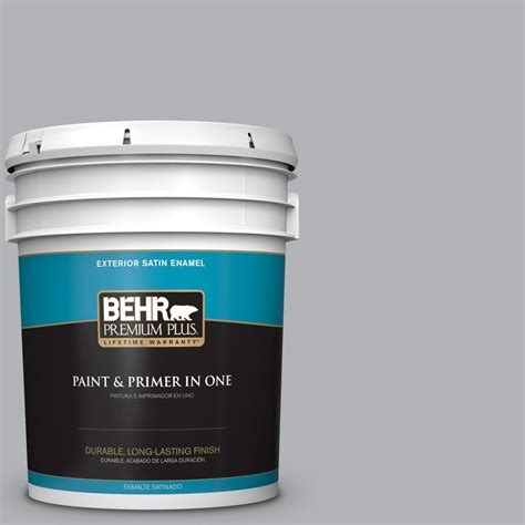 behr premium plus 5 gal 770e 3 pewter mug satin enamel exterior paint 940005 the home depot