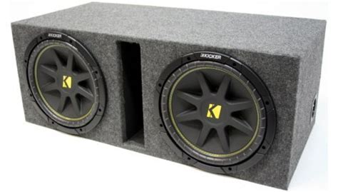Subwoofer Kickers Cvr 12 Original Murah asc package dual 12 quot kicker sub box vented port subwoofer enclosure c12 comp 600 watts peak