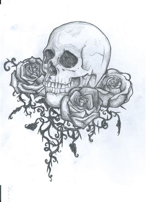 Sketches N Designs by Skull Tattoos Drawing At Getdrawings Free For