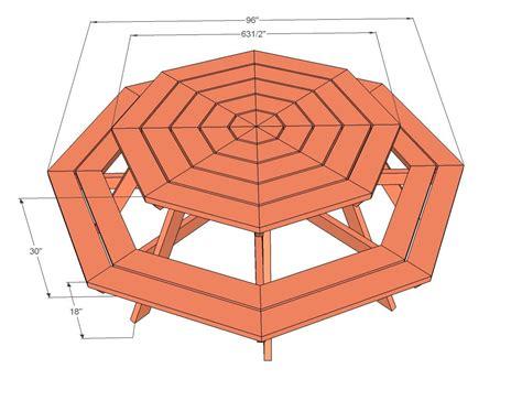 octagon picnic table octagon picnic table diy picnic