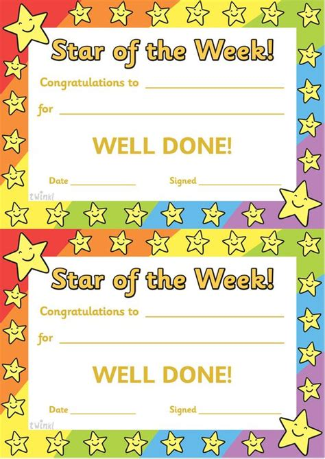 printable star of the day certificates twinkl resources gt gt star of the week gt gt thousands of