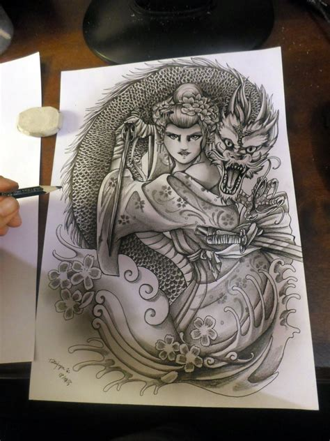 geisha warrior tattoo art warrior geisha by tatujapa on deviantart