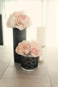 Black Vase Centerpiece Wedding Mirrored Vase Chalkboard Centerpiece Set