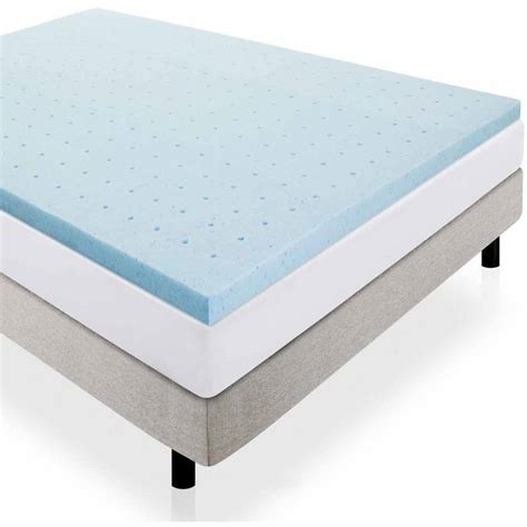 foam bed pad mainstays 1 5 quot memory foam combo mattress topper walmart com