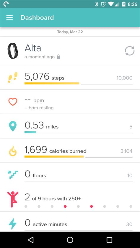 fitbit android app fitbit alta review android authority