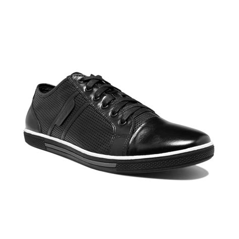 kenneth cole sneakers mens kenneth cole n up perforated sneakers in black for
