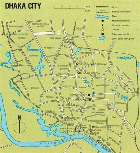 map of dhaka city introduction dhaka