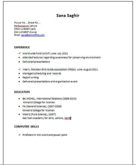 Proficient Computer Skills Resume Sample by Resume Sample For International Relations
