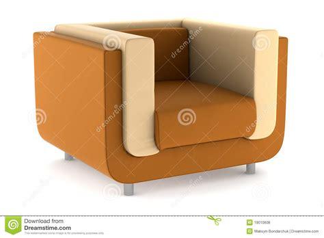 orange leather armchair modern orange leather armchair isolated on white royalty free stock photos image