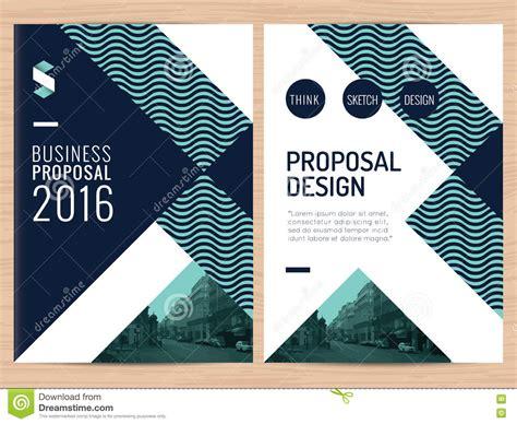 design proposal vector modern clean business proposal annual report brochure
