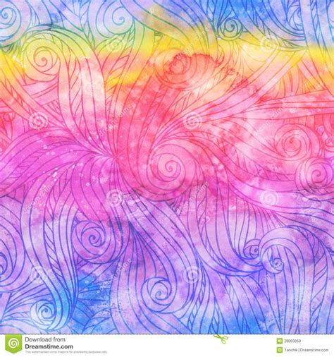 watercolor drawn pattern abstract watercolor seamless hand drawn pattern stock