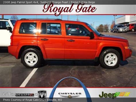 orange jeep patriot sunburst orange pearl 2008 jeep patriot sport 4x4 with
