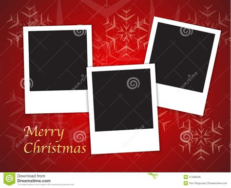 photo frame card template card templates with blank photo frames stock