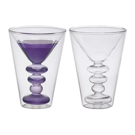 cocktail glass set buy bitossi home double walled cocktail glasses set of 2