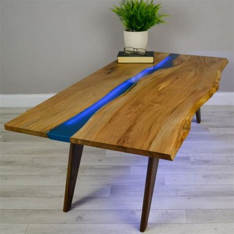 river coffee table resin river coffee table on walnut base coffee tables