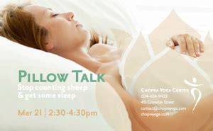 Pillow Talk Free by Free Pillow Talk At Chopra Vancouver Spots Remain Active Sport Therapy Clinic