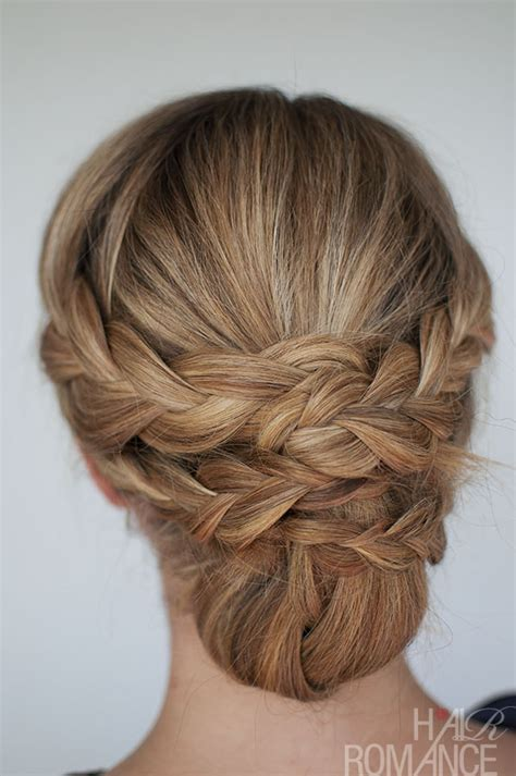 braided styles up do for hair on the sides hairstyle how to easy braided updo tutorial hair romance