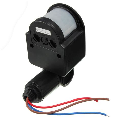 Automatic Light Sensor Outdoor 12v Dc Outdoor Automatic Infrared Pir Human Motion Sensor Switch For Led Light Black Lazada Ph