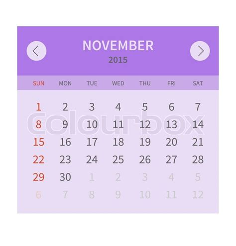 Dickinson College Academic Calendar November 2015 Calendar Box Calendar Template 2016