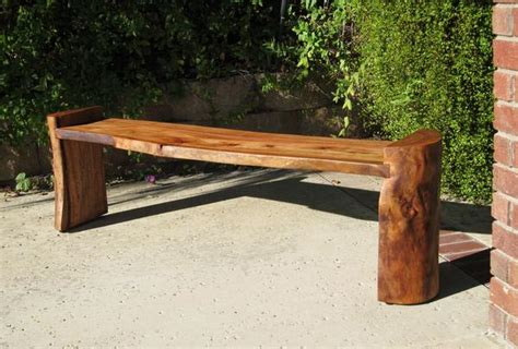 benches made from logs log bench woodwaves