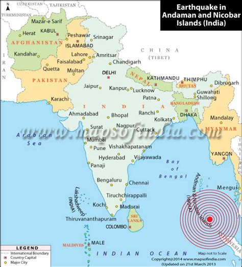 Andaman And Nicobar Outline Map by 6 7 Magnitude Earthquake Strikes Nicobar Islands Map In News